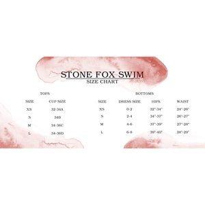 Stone Fox Swim Swim - New w/ Tags! Stone Fox Bikini Top - SALE